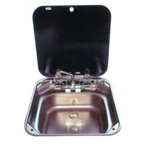 Smev Sink - c/w lid & mixer 440mm x 420mm