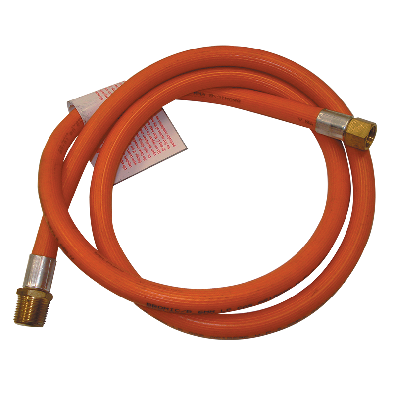 "Gas Hose 3/8"""" M BSP x 1/4"""" F BSP 1200mm"