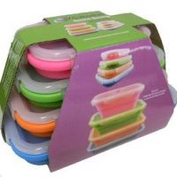 Collapsible rect. containers, set 4