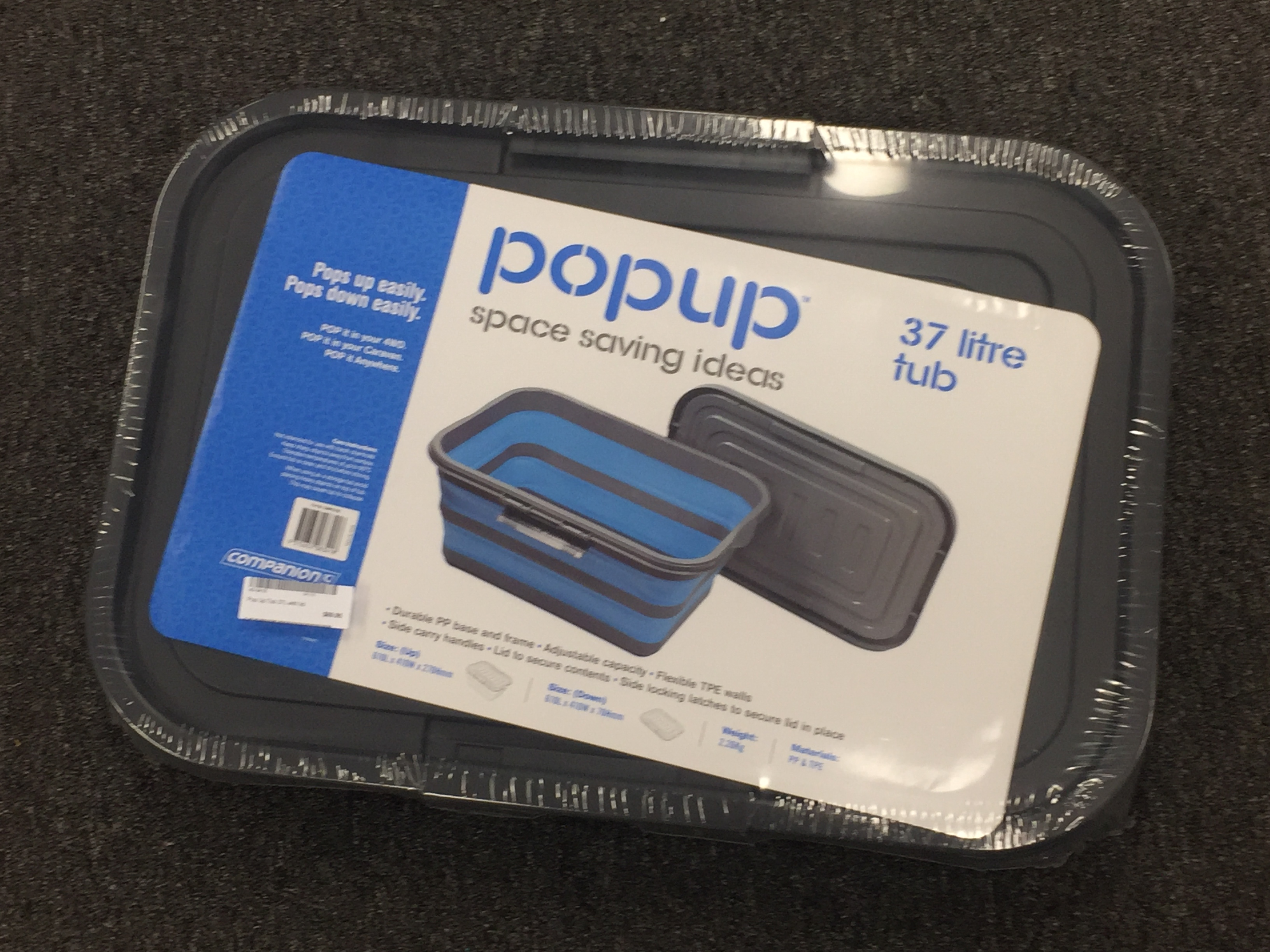 Pop Up Tub 37L with lid