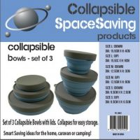 Silicone storage bowls, set of 3
