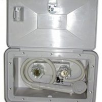 Auxiliary shower mixer with door