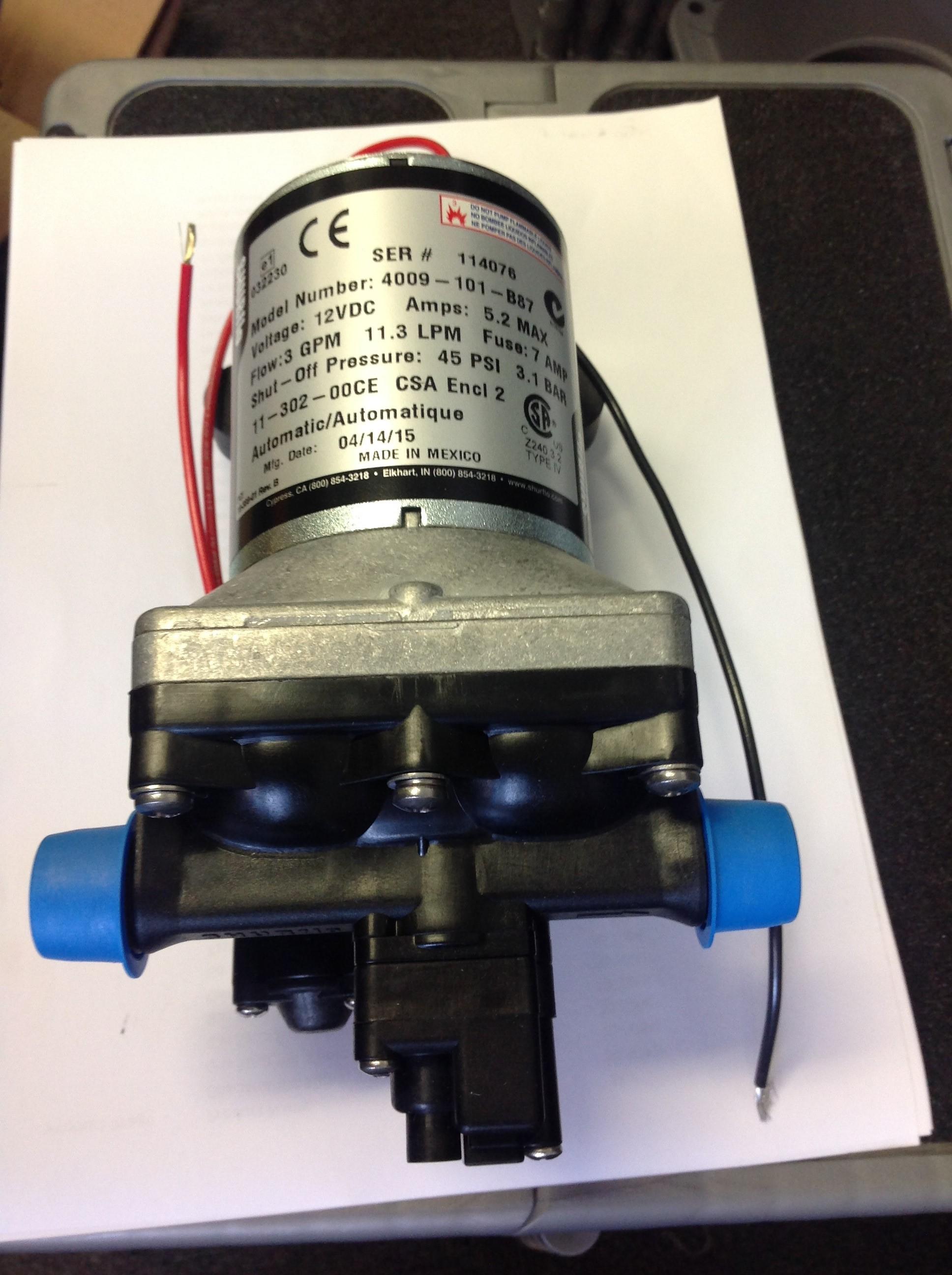 Pump Shurflo 4009 12v OEM no fittings