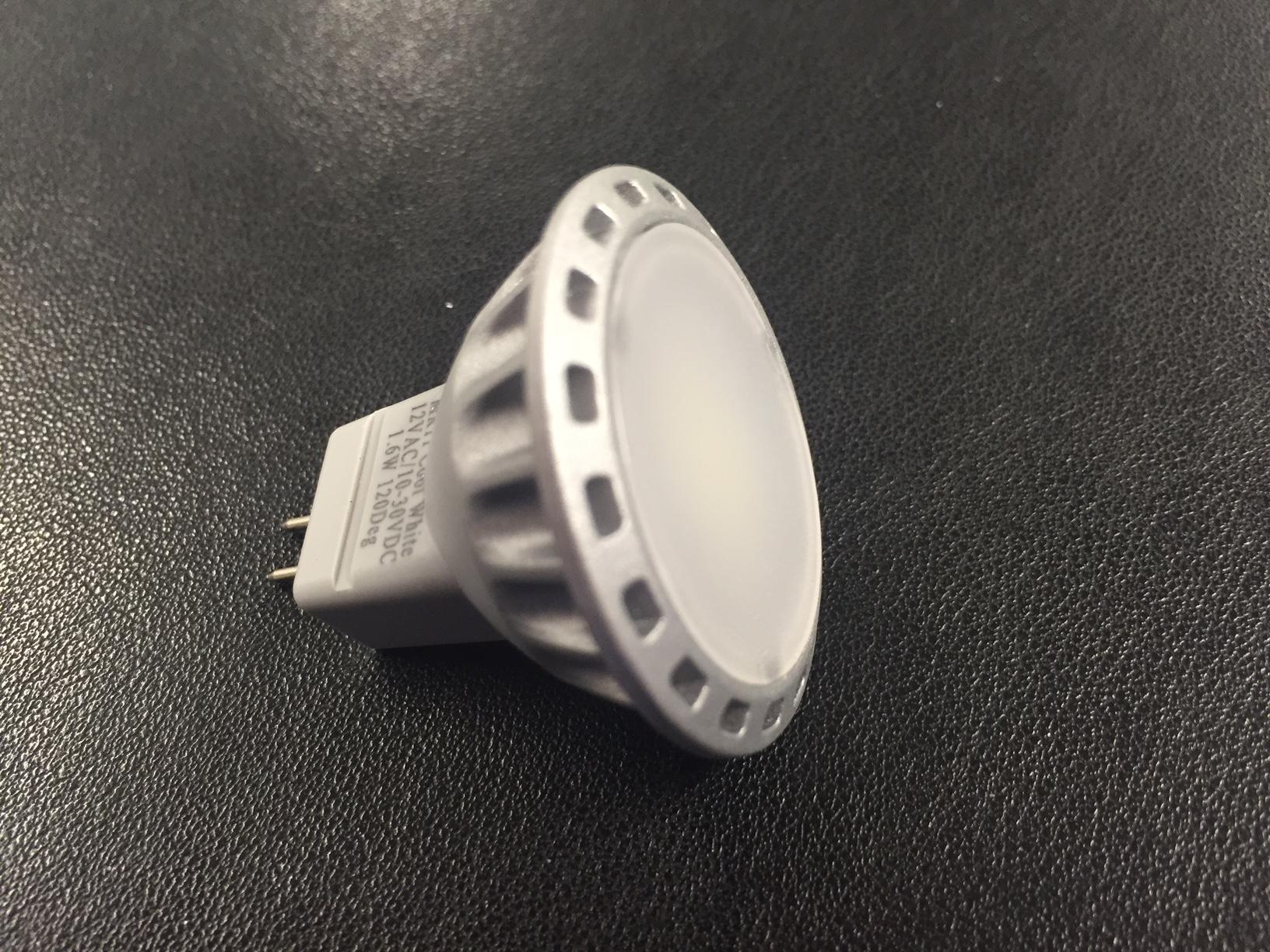 LED MR11 1.6W 12/24v c/w lens