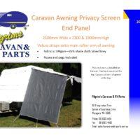 Caravan Privacy Screen end panel
