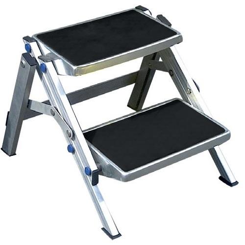 Swell Folding Double Step Aluminium 150Kg Rated Inzonedesignstudio Interior Chair Design Inzonedesignstudiocom