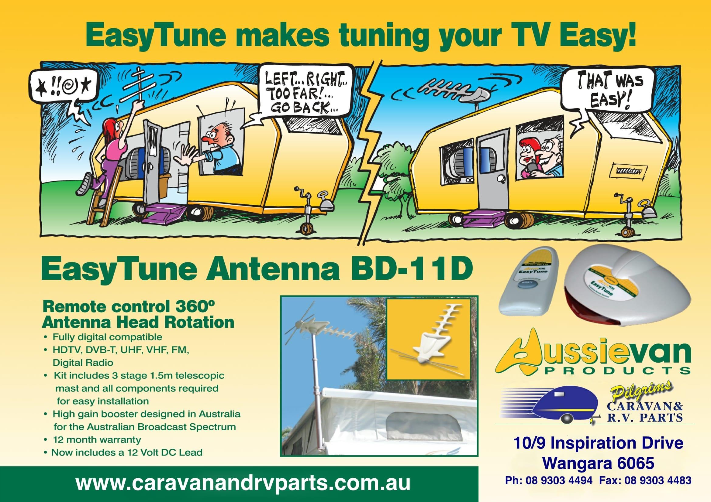AUSSIEVAN Easy Tune Antenna BD-11DX