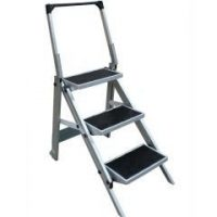 Folding Triple Step, Aluminium, 200kg rated